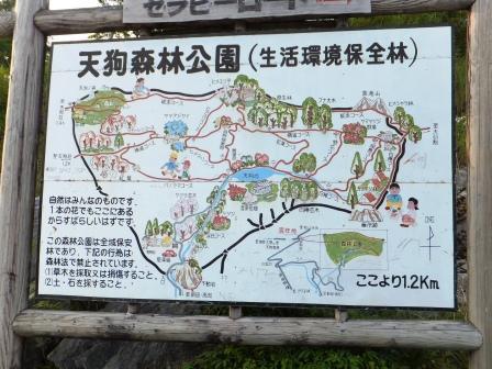 天狗森林公園の看板