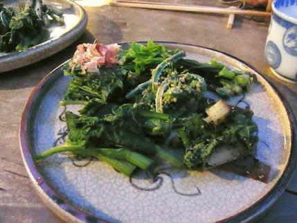 12-5-16夜 山菜盛り