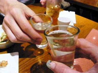12-6-9夜 満蔵 酒乾杯
