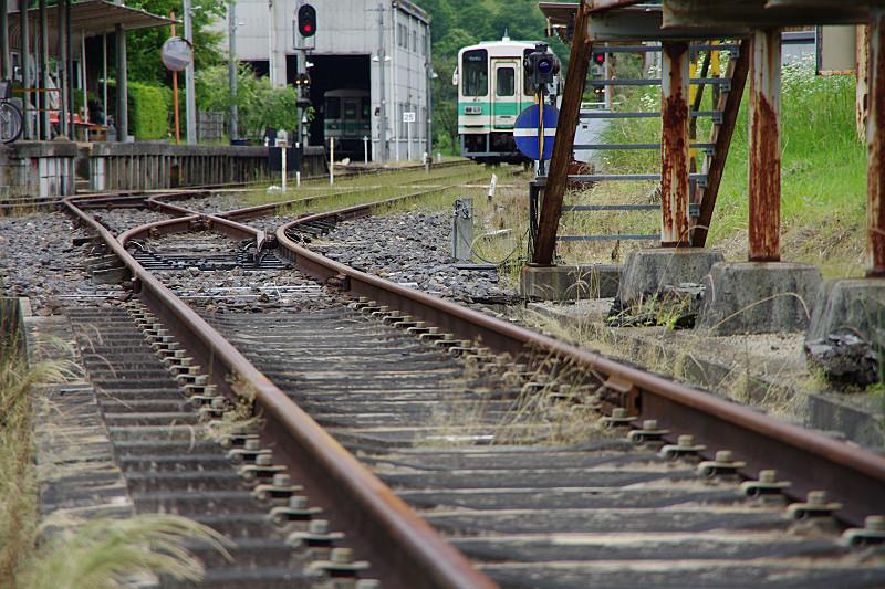信楽高原鉄道 ポイント切り替え
