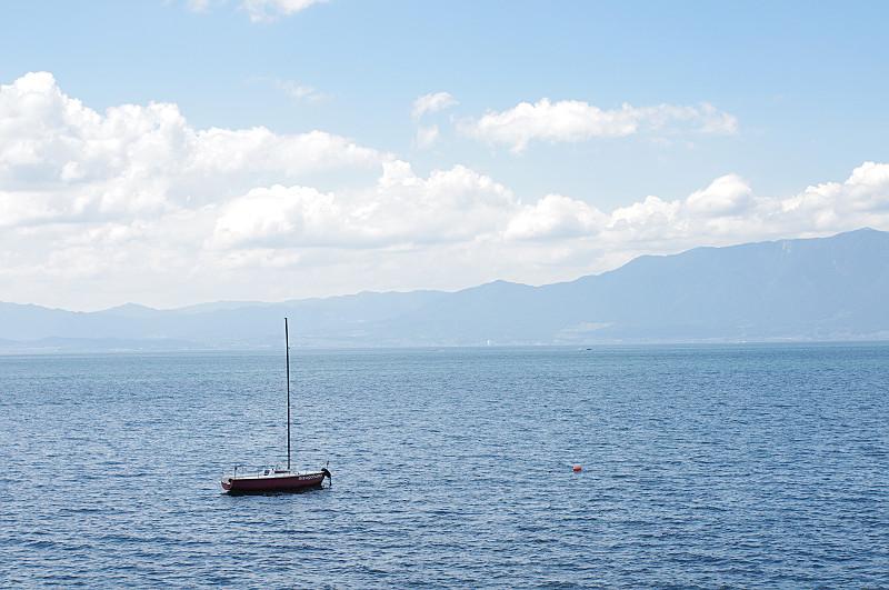 琵琶湖のヨット