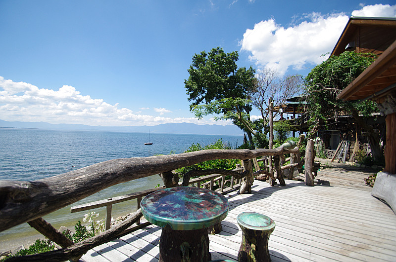 カフェから琵琶湖