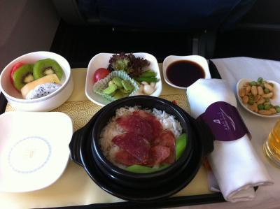 上海航空の機内食