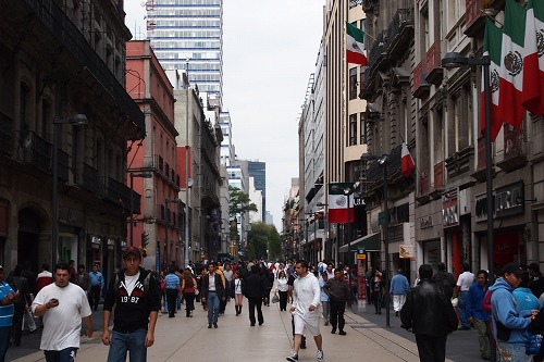 メキシコ青いタイルの家 (18)