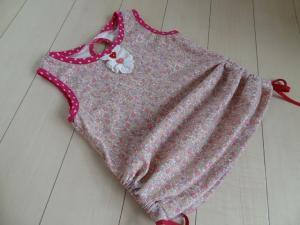 女の子パフ ピンク