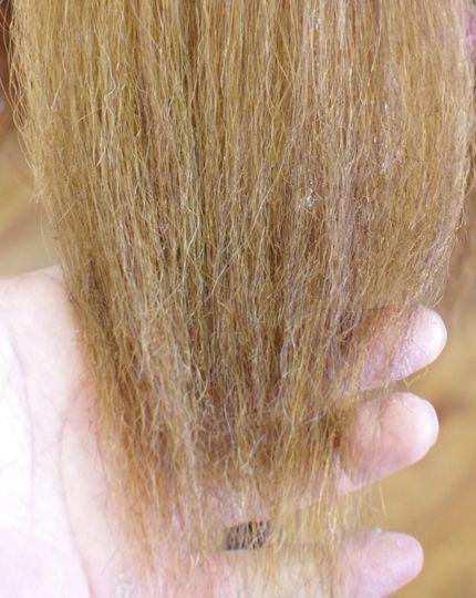 縮毛矯正でチリチリ