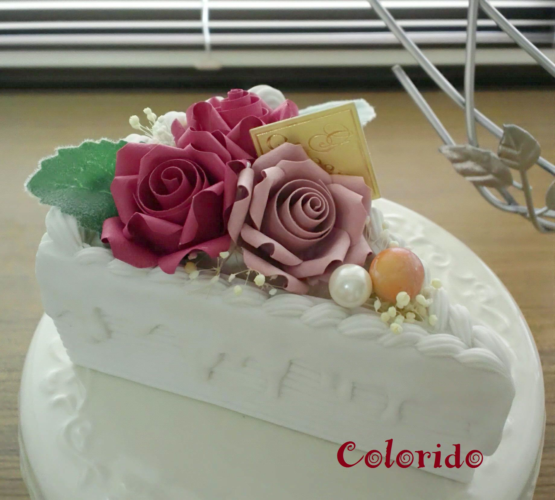 ケーキ薔薇
