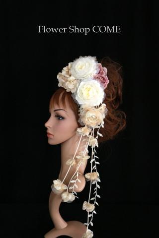 結婚式 髪飾り アンティーク 個性的