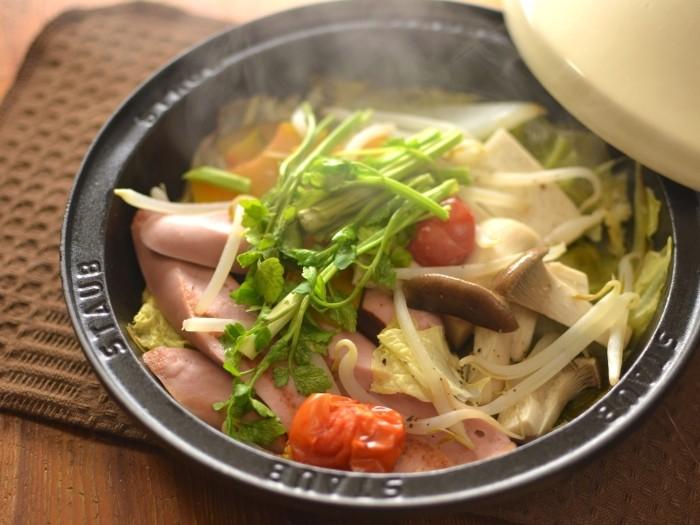 ギョニソと野菜の蒸しもの