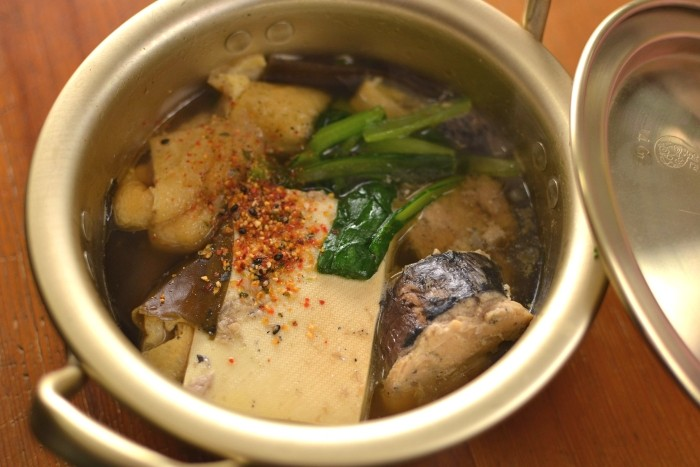 サバ缶豆腐