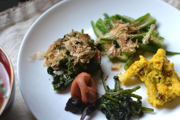 野菜ばっかりの朝ごはん