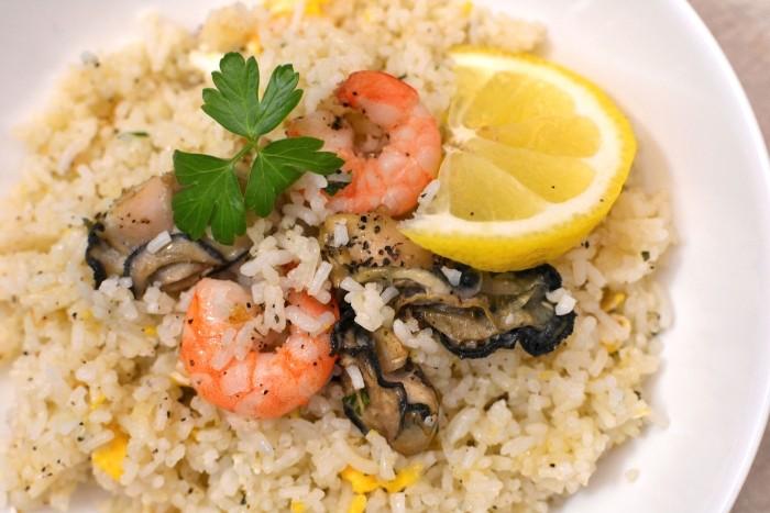 牡蠣の炊き込み炒飯