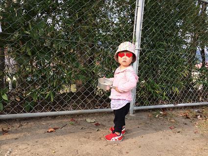 公園でAちゃんに会った❤