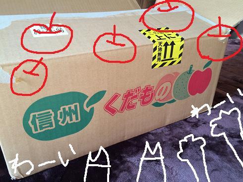 き~たき~たリンゴ~♪