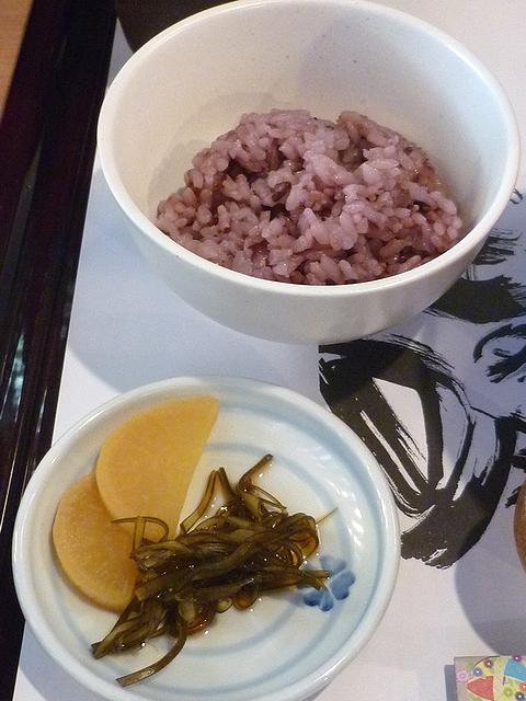 古代米ごはんとおつけもの