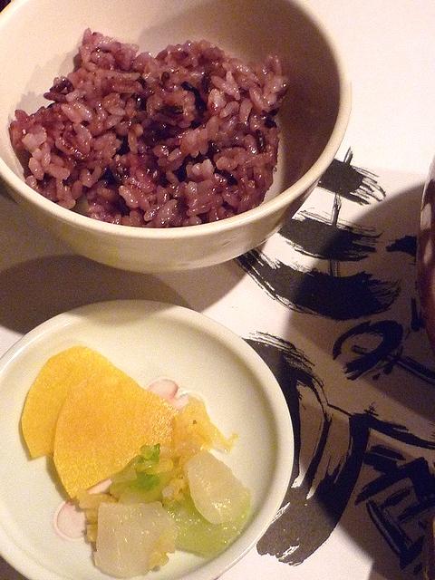 古代米と漬物