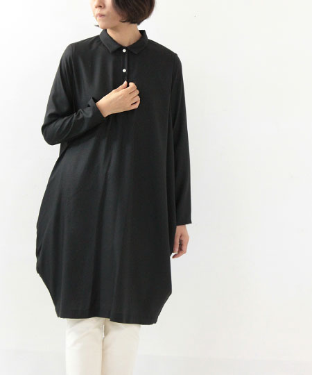 mizuiro-ind / ミズイロインド コクーンシャツワンピース