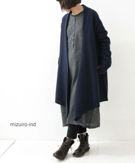 mizuiro ind (ミズイロインド) ロングカーディガン