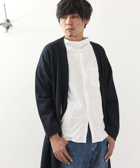 nisica / ニシカ ガンジーネックシャツ