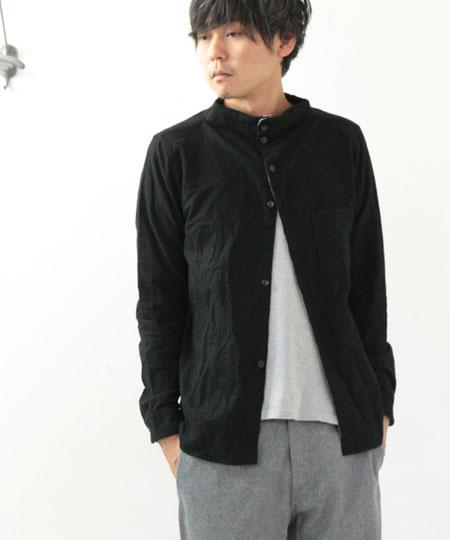 nisica / ニシカ ネルガンジーネックシャツ