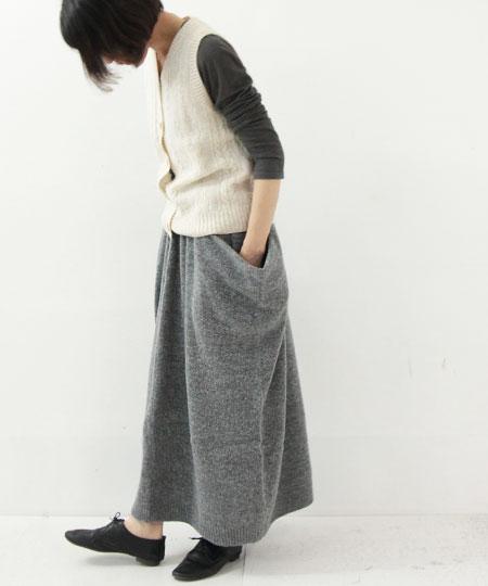 Vlas blomme / ブラスブラム ポケット付きスカート