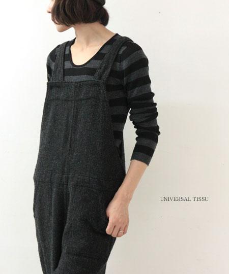 UNIVERSAL TISSU (ユニバーサルティシュ) 英国羊毛ベイカーオーバーオール