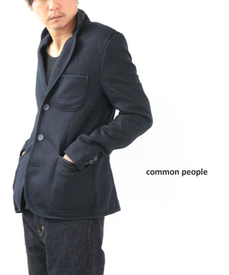 common people / コモンピープル JERSY BOUND EDGE BLAZER PONTI