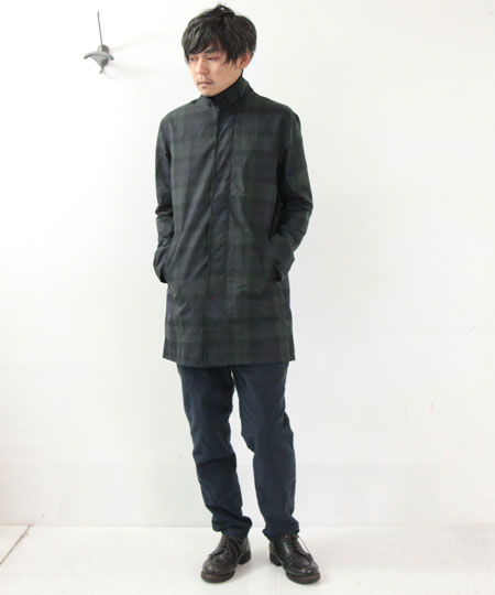 common people / コモンピープル BLACKWATCH WAXED TARTAN MAC DIXON