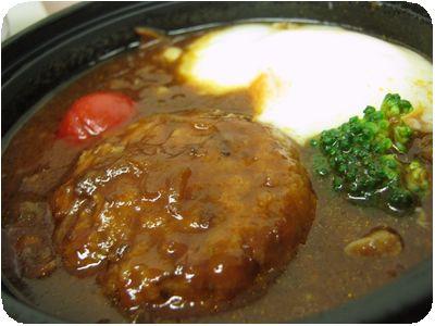 温泉卵のせデミグラスハンバーグ丼
