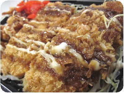 ソースハムカツ丼