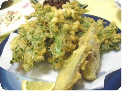 わさび菜&みょうが天ぷら