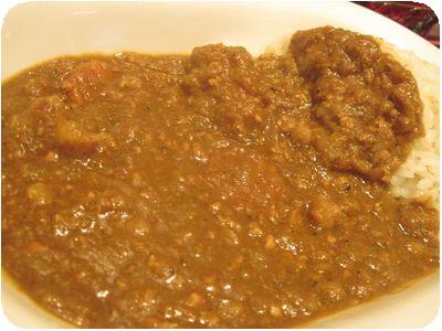五穀米と十種野菜のカレーライス