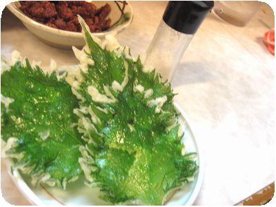 大葉の天ぷら