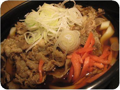 ぎゅ~饂飩(牛丼)