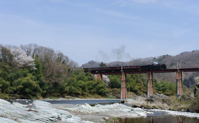 秩父鉄道 C58363 上長瀞荒川橋梁