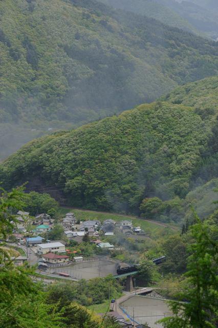 釜石線 D51498 大松カーブ俯瞰
