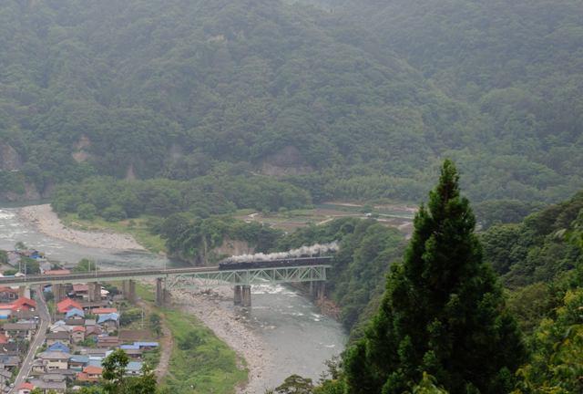 上越線 C6120 第三利根川橋梁俯瞰