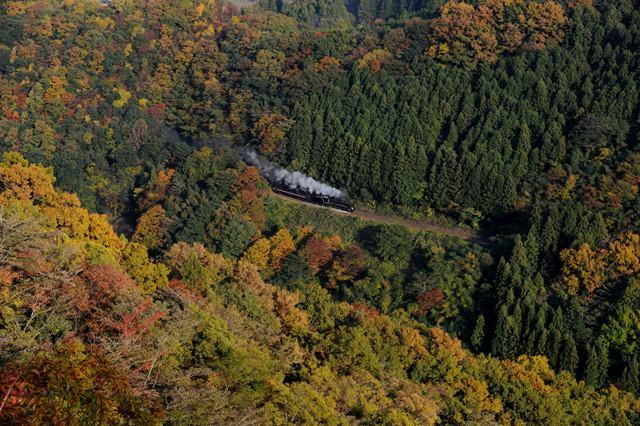 山口線 C571 ローソク岩俯瞰