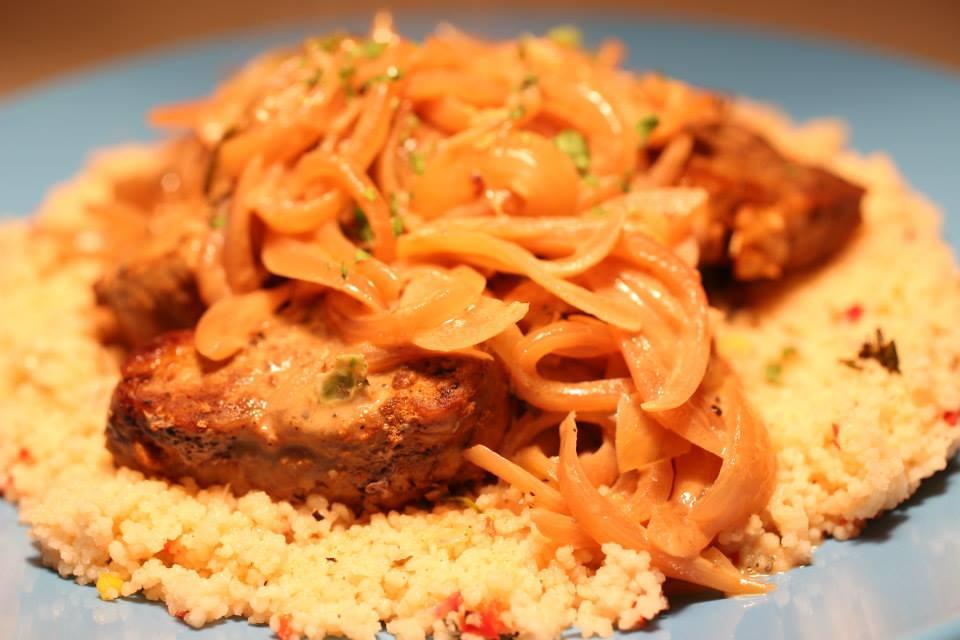 豚ヒレ肉のマルサラソース