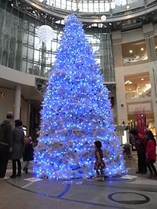商店街のクリスマスツリー