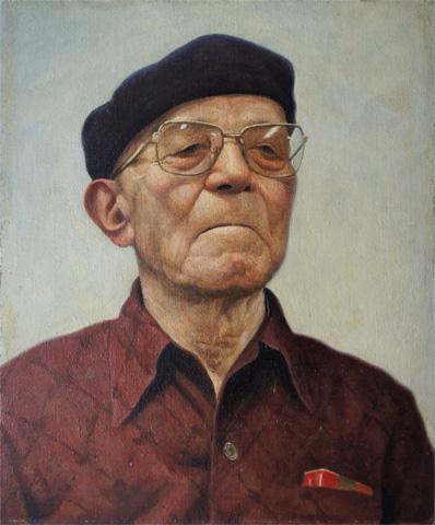 ベレー帽の老人 F8 1996年 北山良文 Yoshifumi Kitayama