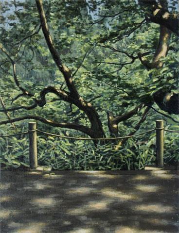 保土ヶ谷公園 F6 1998年 油彩 北山良文 Yoshifumi Kitayama