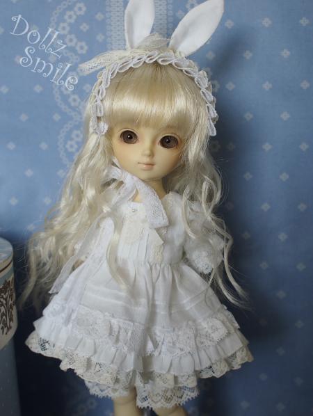 幼SD 子うさぎドレス 白 10