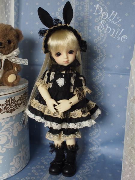 幼SD 子うさぎドレス 黒 1