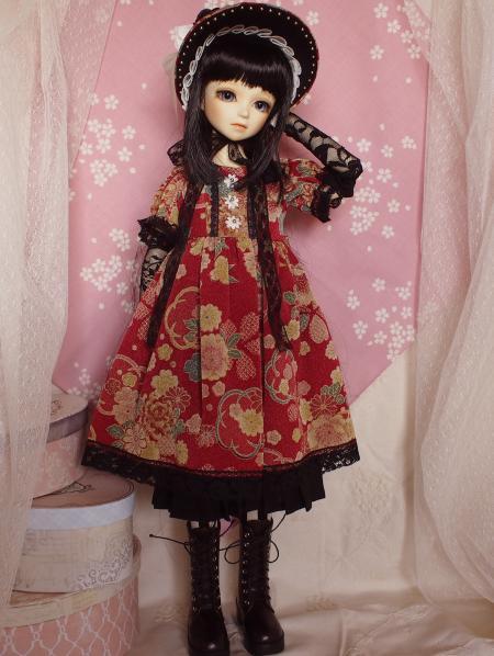文化人形ドレス 3-1