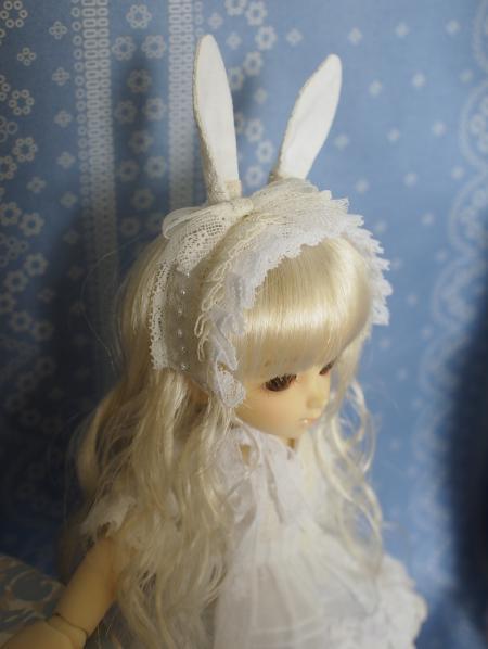 幼SD 子うさぎドレス 白 2