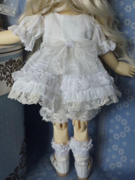 幼SD 子うさぎドレス 白 3
