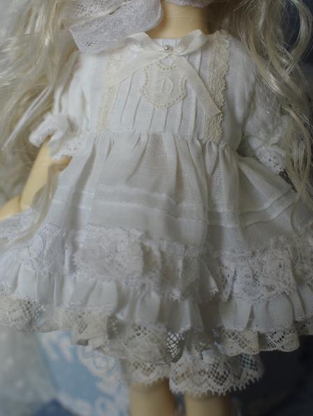 幼SD 子うさぎドレス 白 6