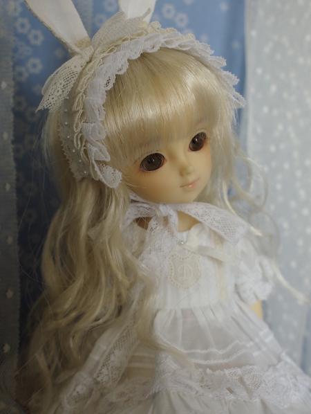 幼SD 子うさぎドレス 白 13