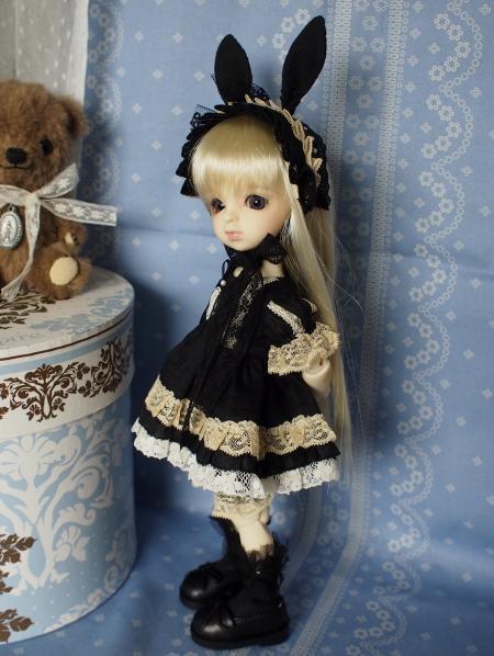 幼SD 子うさぎドレス 黒 2